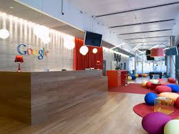 interior awesome google office lobby with colorful beanless bag