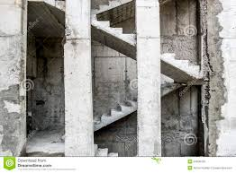 Stairs In House by Unfinished Concrete Stairs Stock Photo Image 7841130