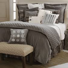Faux Fur Comforter Bedroom Awesome Cable Knit Bedding And Charming Sidetable
