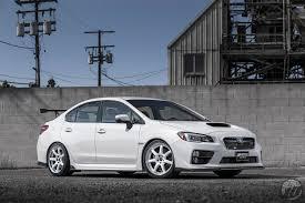 subaru white car work wheels usa subaru sti on work emotion t7r 2p 18 u2033 in white