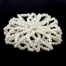 aliexpress buy fashion pearl snood net waitress