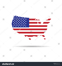United States Map Outline by America Map Outline Flag Vector Stock Vector 284775167 Shutterstock