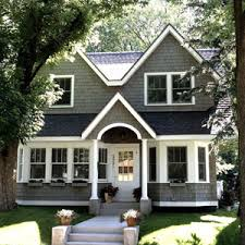 house styles exterior colors gray and white trim
