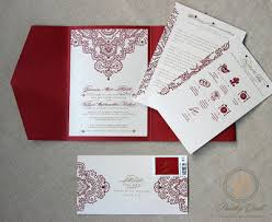 Christian Wedding Invitations Paisley Quill Jeannine And Fal U0027s Hindu Christian Wedding Invitation