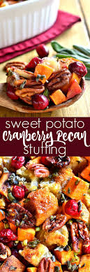 sweet potato unstuffing recipe cherry apple paleo vegan and