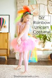 diy rainbow unicorn costume shwin and shwin