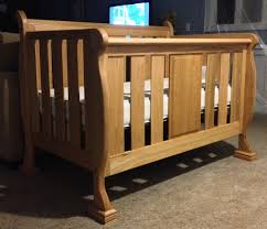 Free Wooden Cradle Plans by Drew U0027s Sleigh Crib The Wood Whisperer