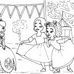 princess sofia friends coloring pages ready print