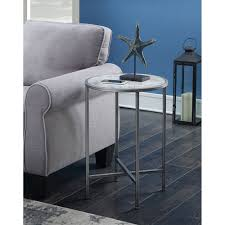 convenience concepts gold coast faux marble end table marble top modern table bellacor