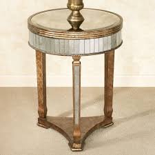 Triangle Accent Table Table Magnificent Bella Mina Antiqued Mirrored Accent Table Glass