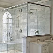 Shower Curtains For Glass Showers Shower Curtain Vs Glass Door