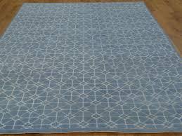 Blue Contemporary Rugs 6 U0027 X 9 U0027 Denim Blue Modern Wool And Silk Oriental Rug Handmade