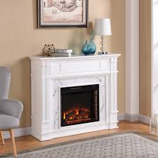 Electric Media Fireplace Harper Blvd Vierling Faux Cararra Marble Electric Media Fireplace