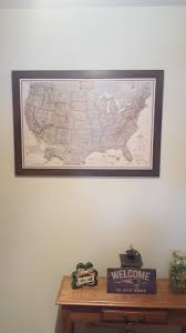 Usa Carry Map by Framed And Personalized World Travel Maps With Pins