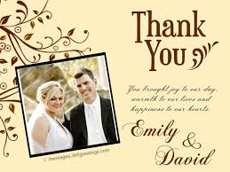 Wedding Card Examples Wedding Thank You Card Samples 365greetings Com
