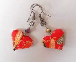 origami earrings origami heart earrings by sakuralu83 on deviantart