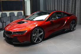modified bmw i8 bmw i8 in lava red color is delivered in abu dhabi drivers magazine