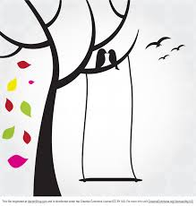free birds in tree vector