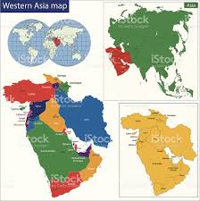 map asie western asia map stock vector 509823613 istock
