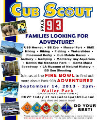 cub scout pack meeting flyer newsletter idea pack meeting ideas