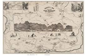 Mountain Map Old White Mountains Maps