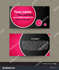 Business Cards Front And Back Abstract Modern Visit Cards Front Back Stock Vector 357219224