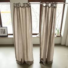 Curtains With Ties Linen Washed Curtains With Ties By Linenme