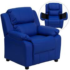 flash furniture deluxe padded contemporary vinyl kids recliner w