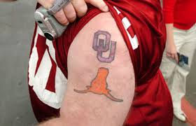 Oklahoma travel tattoo images Ut vs ou which school 39 s fans boast the best ink complex jpg