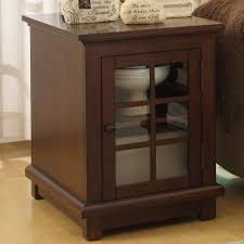 table with glass doors bellamy end table with glass door with shelf