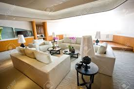 Luxury Livingroom Luxury Living Room In A Expensive Yacht Stock Photo Picture And