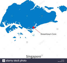 Map Of Singapore Detailed Vector Map Of Singapore And Capital City Downtown Core