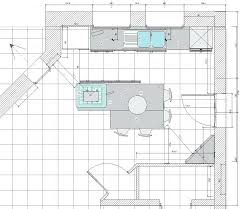 plan cuisine avec ilot central taille ilot central design de maison