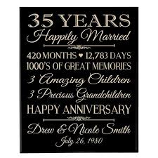 35 year anniversary gift 35th wedding anniversary gift ideas for parents pinteres
