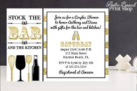 stock the bar shower stock the bar and kitchen couples shower invitations printable