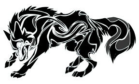tribal wolf clipart 50