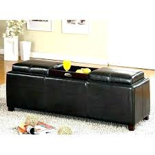Ottoman Black Leather Small Black Leather Ottoman Etechconsulting Co