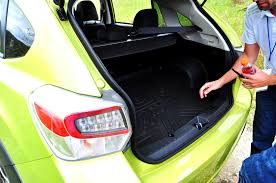 subaru crosstrek interior trunk off road test review 2014 subaru xv crosstrek hybrid is