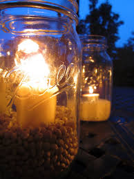 Outdoor Candle Lighting by Outdoor Mason Jar Lights