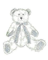 nursery art teddy drawing teddy sketch kids art hand drawn