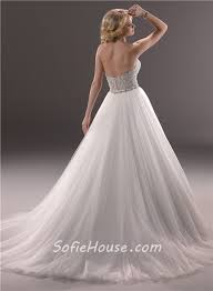 fairytale ball gown sweetheart tulle wedding dress with sparkle