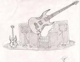 heavy metal guitar sketch by darkmaster13 on deviantart