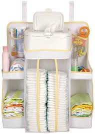 Hanging Changing Table Organizer New Baby Changing Nursery Organizer Storage Pocket Door Wall