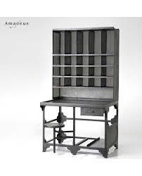 bureau de style bureau de postier de style industriel métal tabouret pivotant
