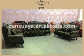 luxury sectional sofa high end wooden living room sofa european antique top green fabric