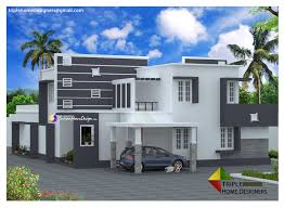 the home designers 3413 sqft modern contemporary flat roof villa design penting ayo