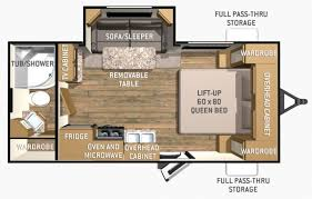 Shadow Cruiser Floor Plans 2017 Cruiser Rv Shadow Cruiser Ultra Lite Travel Trailer 195wbs