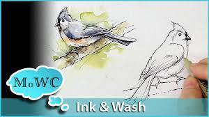 painting birds wash watercolor technique