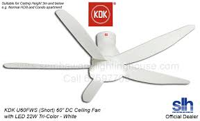 60 ceiling fan with light kdk u60fw 60 dc motor led ceiling fan white