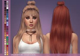 custom hair for sims 4 sims 4 hair phaedra